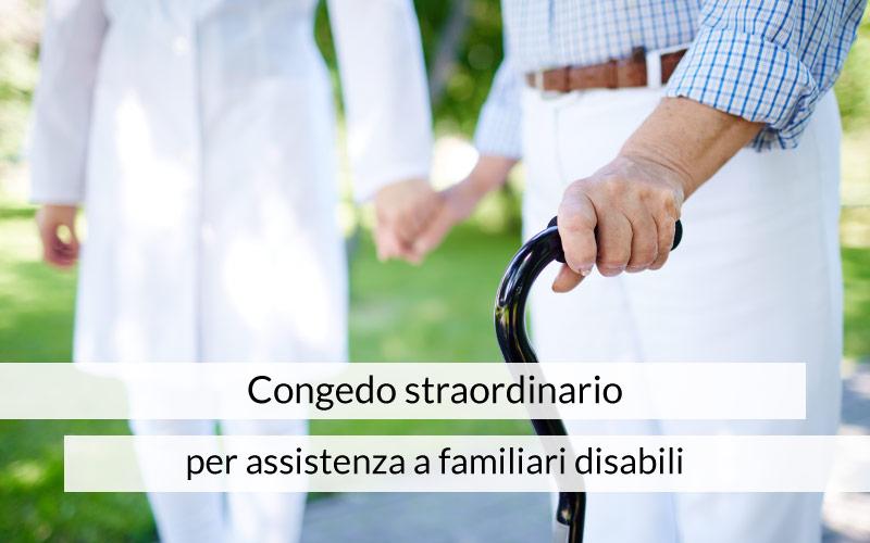 Congedo straordinario per assistenza a familiari disabili